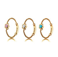 New Genuine PANDORA Spirited Heart Chain Ring 14K Gold Vermeil 197191CZ