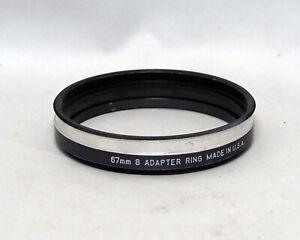 Tiffen 67mm 8 Adapter ring Metal Digital Film