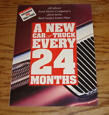 Original 1994 Ford Car & Truck Lease Plan Sales Brochure 94 Mustang Thunderbird