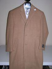 $595 New Jos A Bank 100% Camel Hair Executive single breasted topcoat 52 R