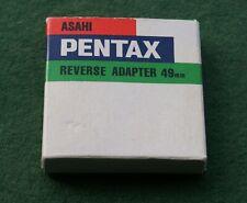 Genuine Asahi Pentax 49mm to K Mount Reverse Adapter (slightly used)
