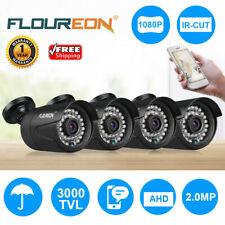 4/1x FLOUREON 1080P HD 2MP Waterproof CCTV AHD DVR Security Camera Night Vision