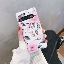 For Samsung Galaxy S10 Plus Note 10 S20 Flower Pattern Shockproof TPU Case Cover