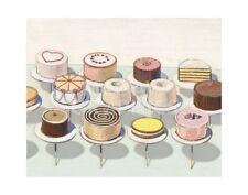 "THIEBAUD WAYNE - CAKES, 1963 - ART PRINT POSTER 11"" X 14""(1639)"