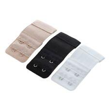 3 Pcs Lady Assorted Color 2-Row Hooks Eye Tape Bra Strap Extender SS
