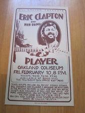 ERIC CLAPTON Player Oakland coliseum concert poster 1978