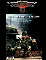 Warriors 1:35 American Soldier Kneeling Resin Figure Kit #35196