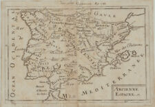 SPANIEN Landkarte Kupferstich um 1750 Reino de España Balearen Mallorca Madrid