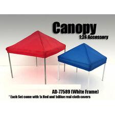 CANOPY ACCESSORY BLUE,RED & 1 WHITE FRAME SET 1:24 SCALE AMERICAN DIORAMA 77589