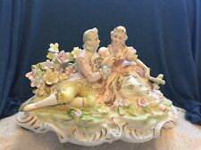 vintage  Lenwile Ardalt Courting Couple Bisque Figurine Lighted Music Rare #7530