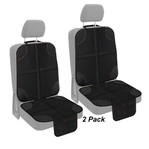 2 Pack Car Seat Protector Storage 2 Mesh Pockets Cover for Babies Infant Toddler