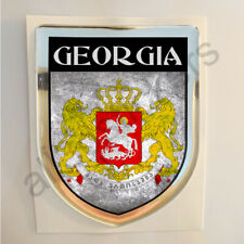 Georgia Sticker Coat of Arms Resin Domed Stickers Flag Grunge 3D Adhesive Car