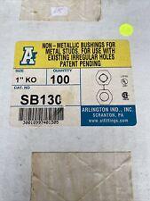 Arlington Sb130 Non-Metallic Bushings for Metal Studs, Pack of 100 ,1 inch hole