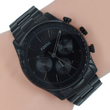 Fossil Herren Uhr Chronograph BQ2448 Sullivan schwarz Edelstahl