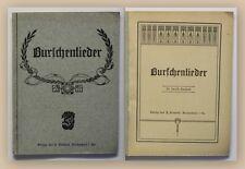 Plasnick Burschenlieder um 1920 Musik Lied Kunst Kultur Gesang xy