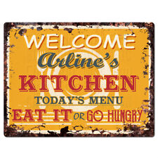 PPKM0892 ARLINE'S KITCHEN Rustic Chic Sign Funny Kitchen Decor Birthday Gift