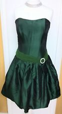 STUNNING AFTER SIX GREEN SATIN STYLE COCKTAIL DRESS - SIZE 14 UK BNWT