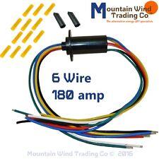 6 Wire Slip Ring 180 Amp KIT for Wind Turbine Permanent Magnet Alternator PMG