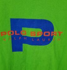 VTG Ralph Lauren Polo Sport Spellout Big Logo Shirt Size Large