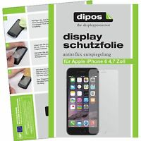2x dipos Apple iPhone 6 4,7 Zoll matte Displayschutzfolie Antireflex Testsieger