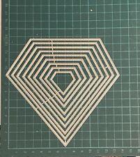 Brand New 9 Stitched Edge Nesting Diamond Framelit Metal Die Cutter Uk Seller