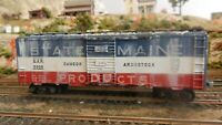 """Athearn BB HO Vintage 40' Boxcar, BAR """"State of Maine"""", Weathered, Exc"""