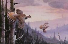 Les Kouba Grouse Country Signed and Numbered Print  12 x 8
