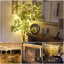 3x3M 300 LED Warm White LED Light Curtain String Fairy Lights Xmas Wedding Party