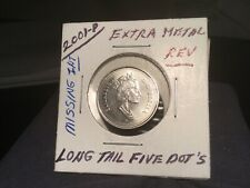 Canadian Nickel 2001 P ...Error long tail with dots