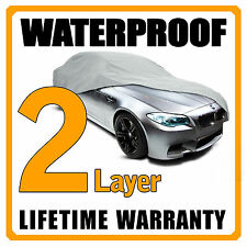 2 Layer Car Cover Breathable Waterproof Layers Outdoor Indoor Fleece Lining Fiu