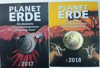 2x 5 x 5 € Euro Planet Erde 2017 + 2018 Tropische + Subtropische Zone je ADFGJ