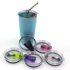 Splash Spill Proof Cup Lid For 20/30 Oz YETI Rambler Tumbler Cup With Straw Hole