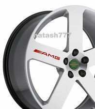 4 - AMG Decal Sticker  wheels rims Mercedes Benz Sport Racinig emblem logo RED