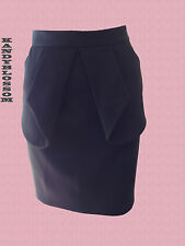 xx REDUCED xx Black peplum style front skirt office, formal size 8/10