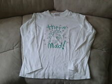 Girls 11 Years - White Long Sleeved Tunic Top - 'Hopping Mad' Frog Motif - Next