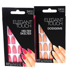 4 Packs Elegant Touch False Nails Bright Pink & Peach Helter Skelter & Dodgems