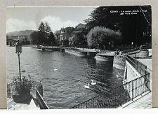 COMO - La nuova strada a lago per Villa Olmo [grande, b/n, viagg. 1962]