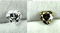 Heart Shape White Sapphire,Green Tourmaline 4.40 Ct Natural Gems Pair Certified
