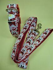 🐾 Weihnachten Hunde Halsband Hundehalsband Weihnachtsmann Gr. L 47 cm + Leine