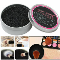 Professional Eyeshadow Makeup Color Clean Sponge Tool Brush Cleaner Remover Box