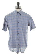 Camicia da uomo UNGARO Medio Grigio Blu Cotone