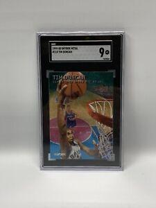 1999-00 Skybox Metal #110 Tim Duncan SGC 9 Mint  SUPER LOW POP ~ No Chips ~Fleer