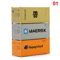 HO Scale 20ft Container Shipping Containers Freight Car Maersk Hapag-Lloyd MSC