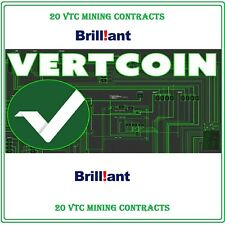 20 Vertcoin (VTC) CRYPTO MINING-CONTRACT (20 VTC)