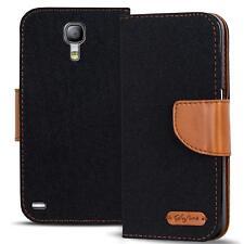 Handy Tasche Samsung Galaxy S4 Book Case Hülle Klapphülle Flip Cover Schwarz