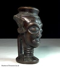African Tribal Kuba Cup Carving Wood D.R Congo Africa
