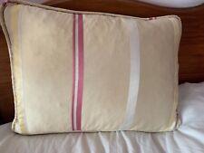 Laura Ashley Gold & Duck Egg Striped Silk oblong Cushion