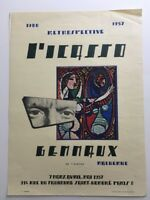 PICASSO Very Rare Exhibition Poster Gemmaux 1957