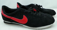 VINTAGE NIKE BLACK Suede & RED Shoes Cortez premium running shoes SNEAKERS 11 ?