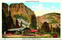 Vtg Postcard 1920s Yosemite Lodge - Yosemite Valley - Yosemite National Park CA